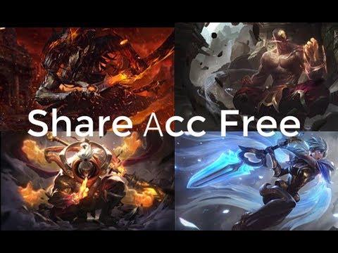 Share acc LOL VIP trên 1 triệu | Mini game nhận acc khủng | Yasuo Ma kiếm | Lee Kiến Tạo