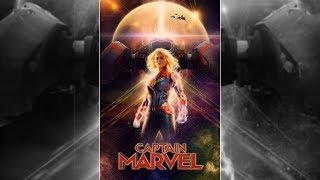 Captain Marvel Movie Poster Design In #Photoshop CC [7studio777]