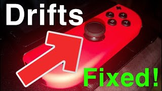 Nintendo Switch HOW TO FIX JOY CONS DRIFTS! EASY NO TOOLS REQUIRED!