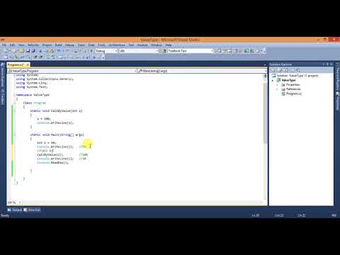 What is Call By Value And Call By Reference in c#