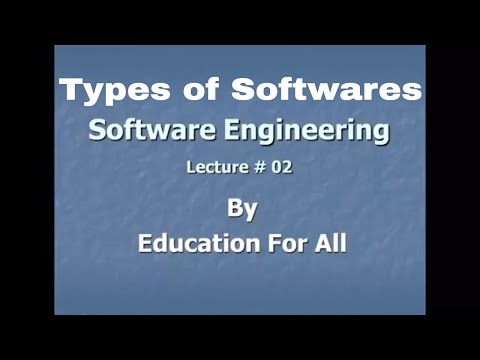 Types of Software's || Software engineering lecture 2 Complete In Hindi/Urdu