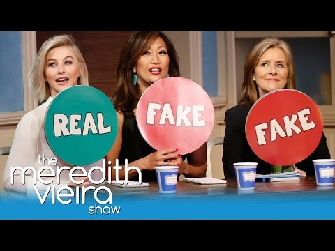"""Julianne Hough And Carrie Ann Inaba Play """"Spot A Fake!""""   The Meredith Vieira Show"""