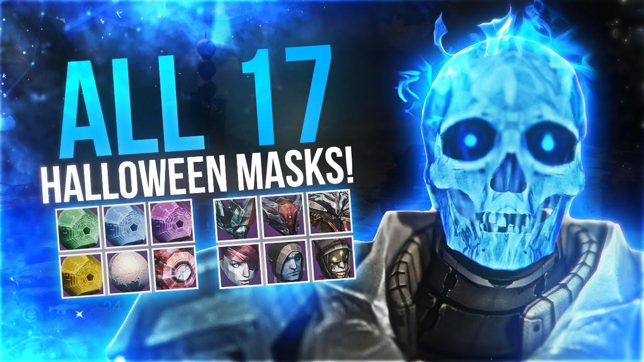 Destiny: All 17 Halloween Masks! - YouTube