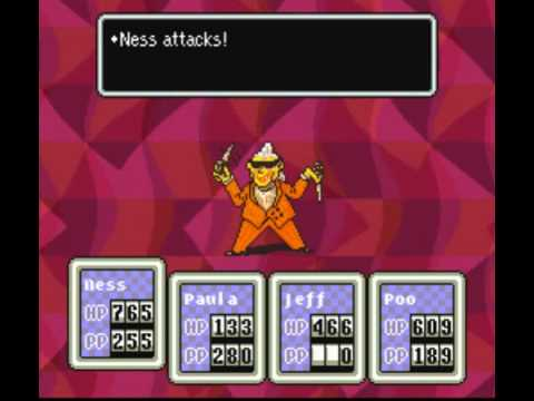 Earthbound - PK Hack: Epic Enemies - Frank of Franklin Hall and II Kram  Neistsneyknarf