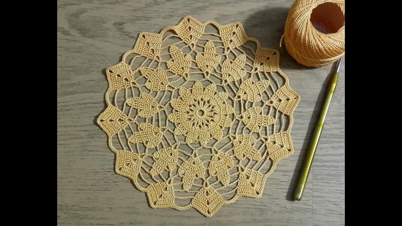 Tigisi Yatak Odasi Danteli Yapimi Yuvarlak Dantel Modeli Crochet