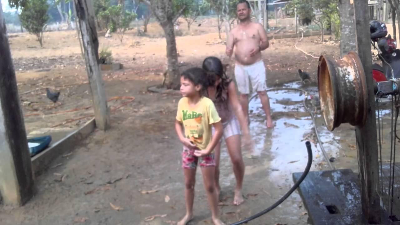 Banho de mangueira