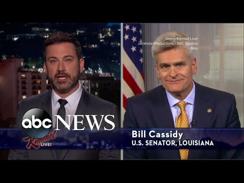 Jimmy Kimmel takes on the architect of the new Republican health care bill