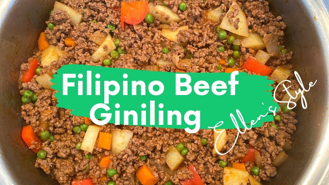Filipino Beef Giniling Recipe|| Ellen 's Style - YouTube