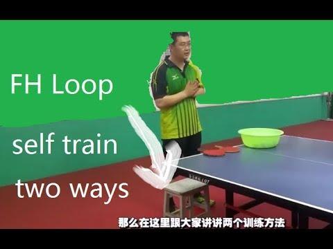 [TT Howto] Practice Forehand Loop(1-man) Penhold & Shakehand (English)