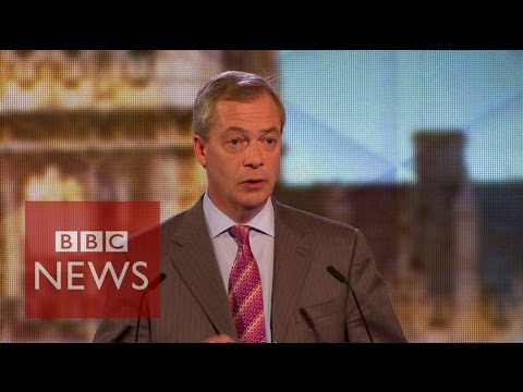 Moment Nigel Farage challenged the audience - BBC News