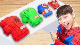 슈퍼 마슈! 도와주세요!!!Mashu Help me Dress Up Superheroes- 마슈토이 Mashu ToysReview