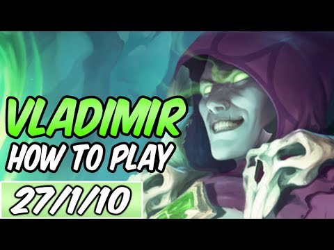 HOW TO PLAY VLADIMIR | Build & Runes | Diamond Commentary | Champion Guide | League of Legends | S9