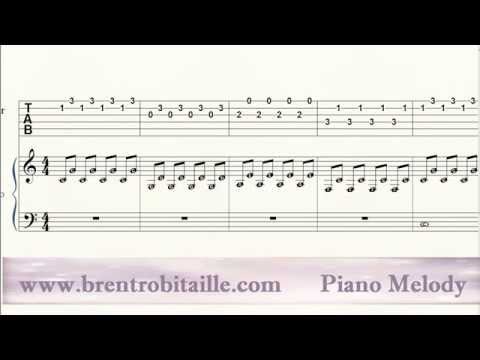 Piano - Guitar Tab - Duet - Stereo Madness