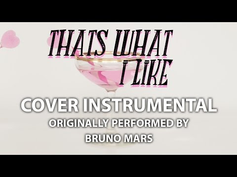 That's What I Like (Cover Instrumental) [In the Style of Bruno Mars]