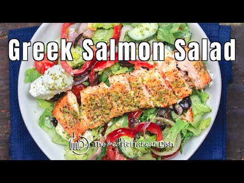 Greek Salmon Salad Recipe from The Mediterranean Dish