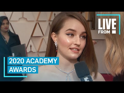 Kaitlyn Dever Rocks Sustainable Louis Vuitton Gown To Oscars | E! Red Carpet & Award Shows
