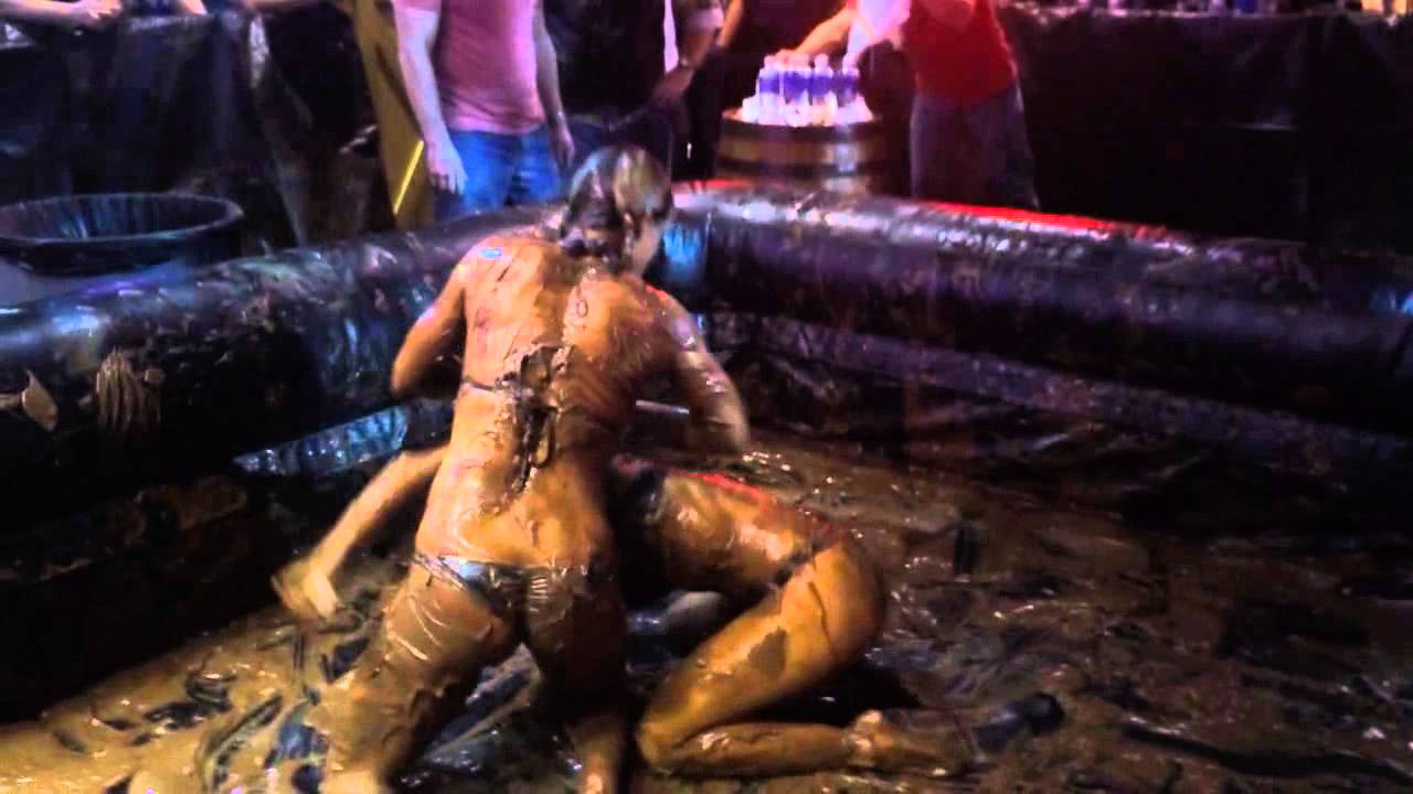Bikini and mud wrestling