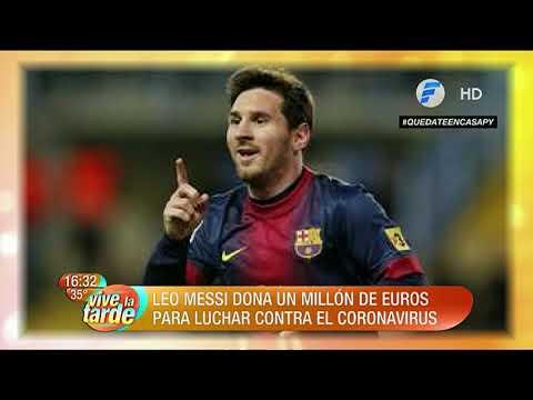 Leo Messi dona un millón de euros para luchar contra el coronavirus.