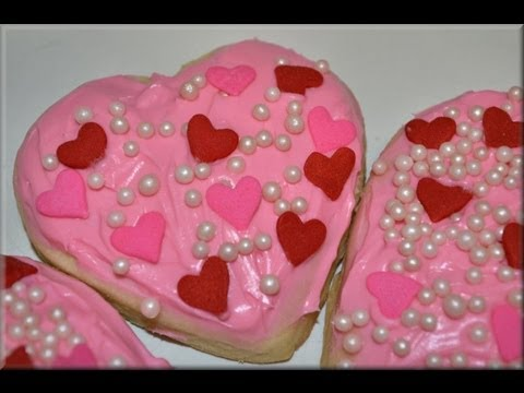 VALENTINE\'S DAY COOKIE recipe! - CookwithApril - YouTube