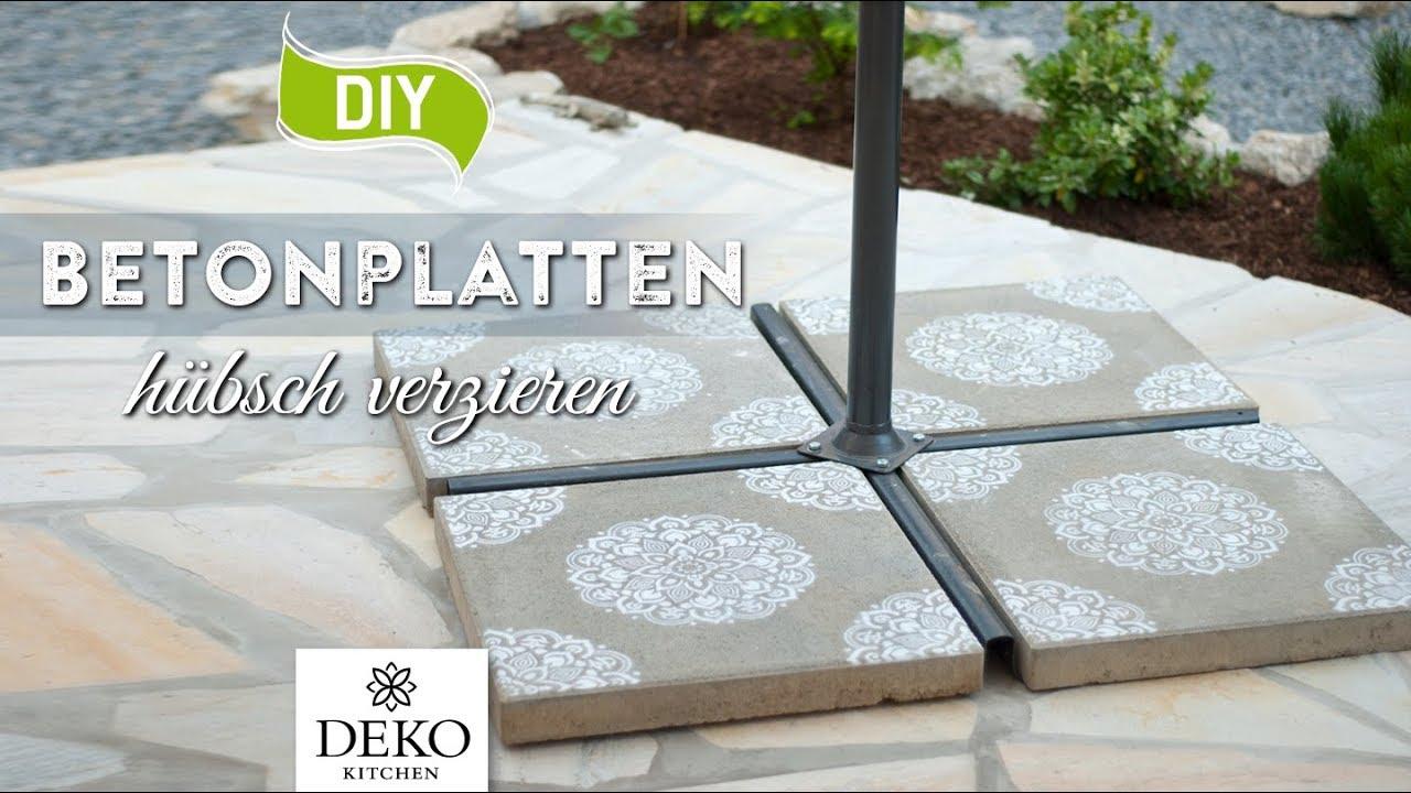 DIY: Betonplatten einfach & schnell verschönern [How to] Deko ...