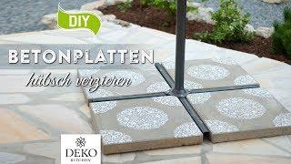 DIY: Betonplatten einfach & schnell verschönern [How to] Deko Kitchen