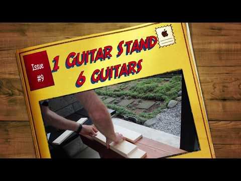 DIY Guitar Stand for Several Guitars