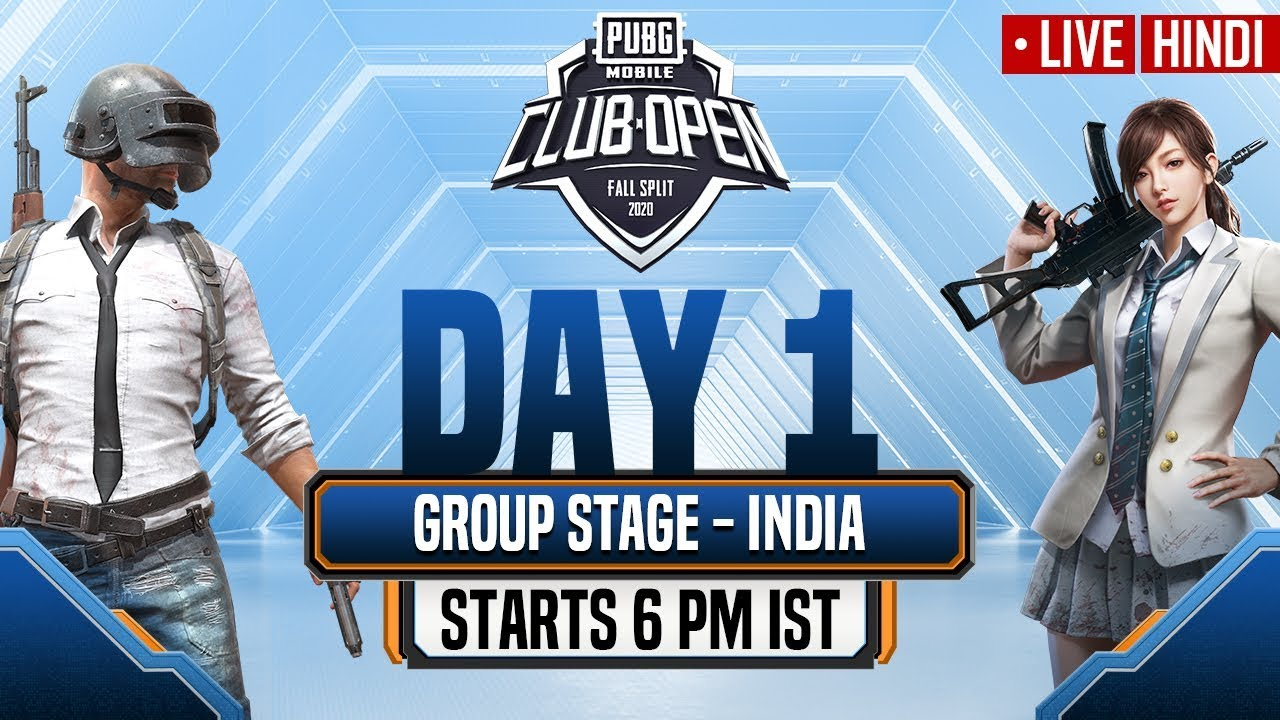 [Hindi] PMCO India Group Stage Day 1 | Fall Split | PUBG MOBILE CLUB OPEN 2020