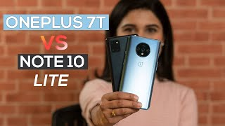 Oneplus 7T Vs Note 10 Lite: Which one is for you?