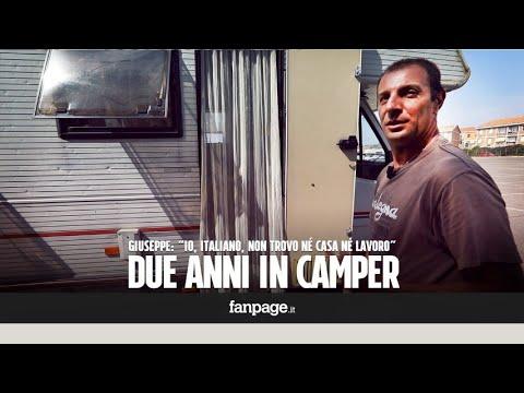 Giuseppe, senza lavoro, vive da due anni in camper: 'Ma non perdo la dignità e continuo a lottare'