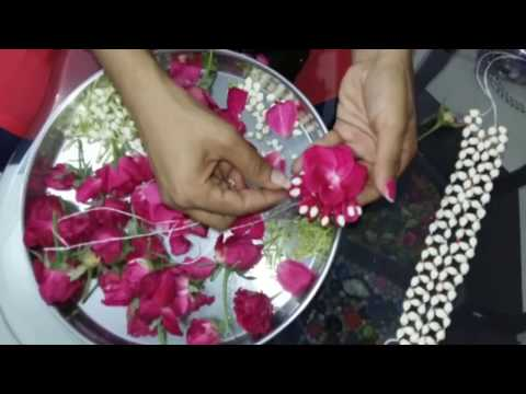 how to make real flower jewelry for mehndi and other fucntions
