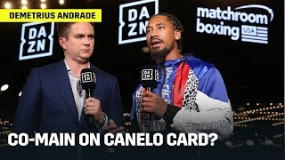 Demetrius Andrade Says He Is Down To Co-Feature With Canelo Alvarez On November 2nd