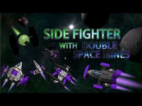 SIDE FIGHTER WITH DOUBLE SPACE MINES!! [Starblast.io TEAM MODE 11]