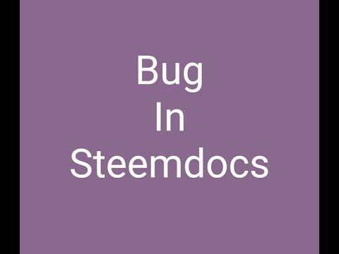 Bug found in steemdocs