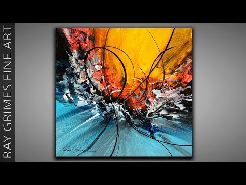 Abstract Painting Techniques / 231 / Relaxing / Acrylics / Demonstration
