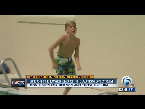 Lower-functioning end of the autism spectrum