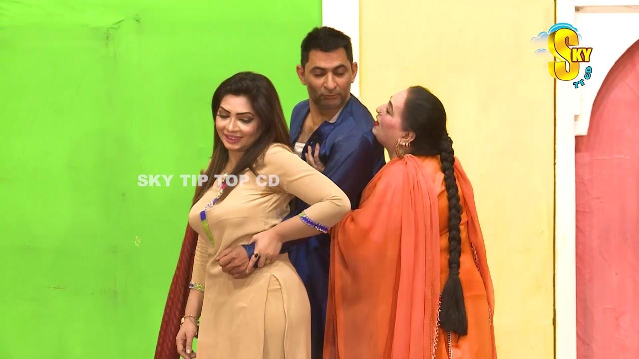 Vicky Kodu and Amjad Rana With Shazeb Mirza | Hun Meri Waari | Stage Drama Clip 2019