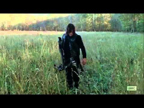 The Walking Dead 6x15 - Daryl Shoots Arrow Near Rositas Head