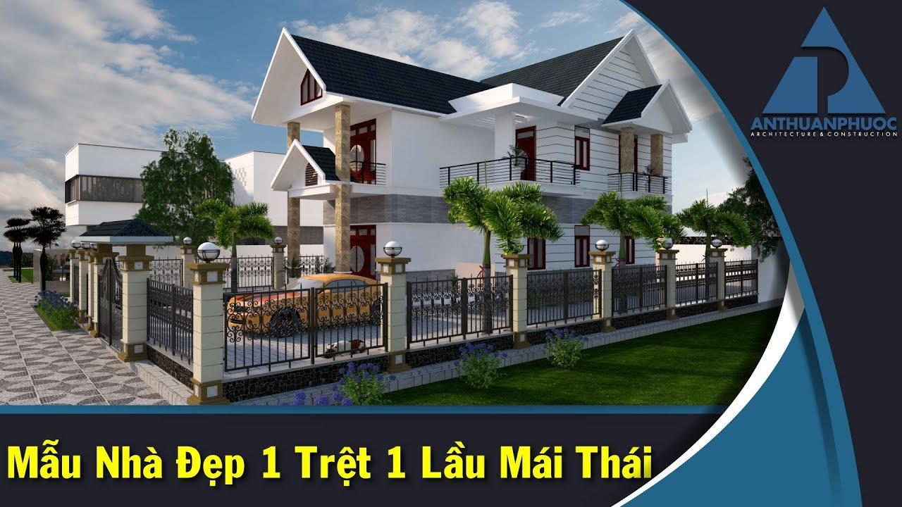 Mẫu Nhà Phố Đẹp 1 Trệt 1 Lầu Mái Thái Tại Quận 9 TP.HCM