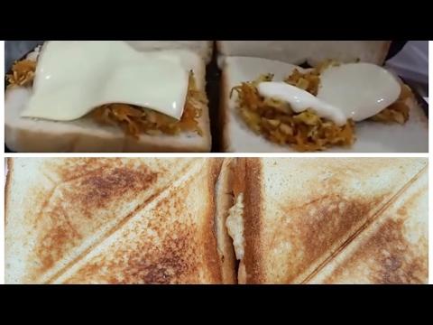 CHICKEN SANDWICH In Sandwich Maker Recipe Urdu/Hindi/English