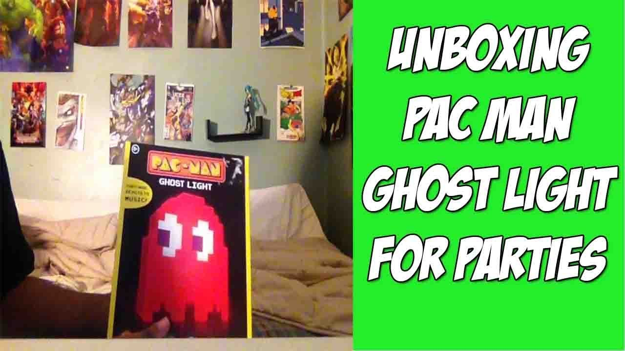 Unboxing Pac Man Ghost Light For Parties and Sleeping
