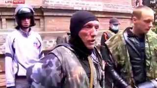 Славянск война - атака вертолёта - подбитый второй вертолёт - вертолетчик-каратель