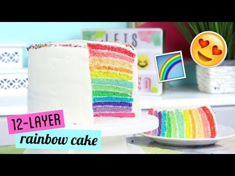 How To Make Twelve Layer Rainbow Cake