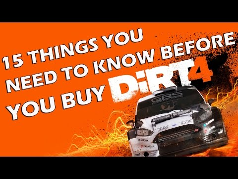 DIRT 4 - 15 Things You ABSOLUTELY NEED TO KNOW Before You Buy It