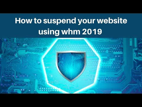 How to suspend your website using whm 2019 | Digital Marketing Tutorial thumbnail