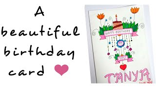 easy birthday birthdaycard draw