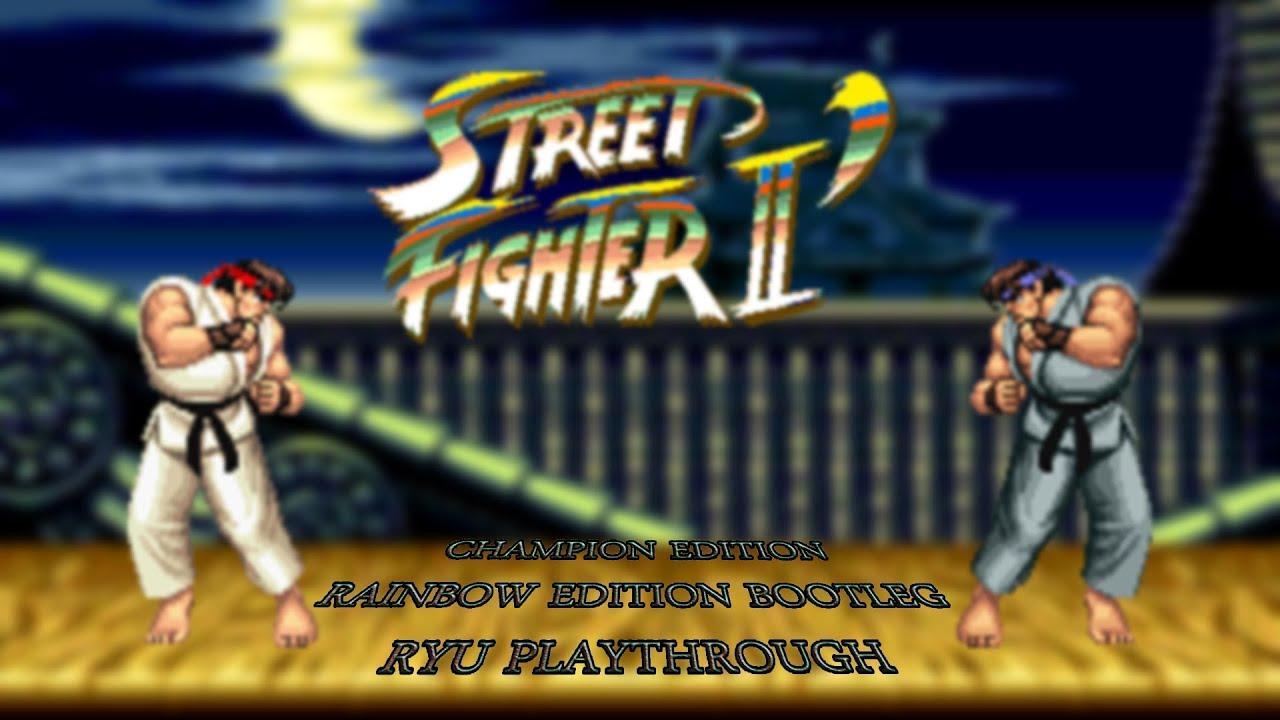 Street Fighter II' Champion Edition Rainbow Edition Hack | Arcade | Ryu  Playthrough