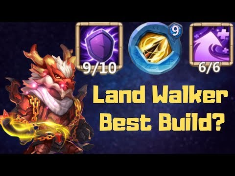 New Hero | Land Walker | Best Build | Part 1 | Castle Clash