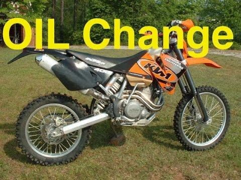 KTM Oil Change 400 450 520 EXC