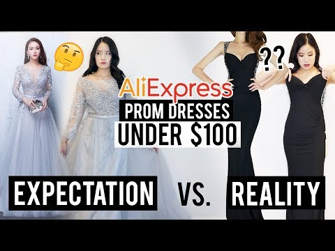 Trying 5 PROM DRESSES for UNDER $100 on ALIEXPRESS, CHINA