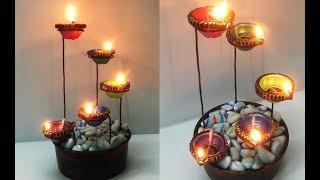 Beautiful Diya Stand for Diwali Decoration | Easy Diya Decoration Idea | DIY Tea light Candle Holder
